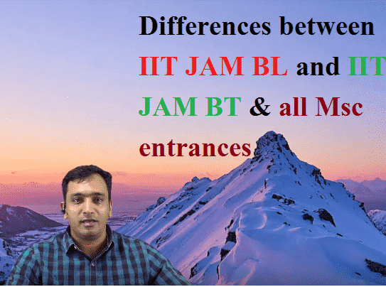 IIT JAM BL and IIT JAM BT