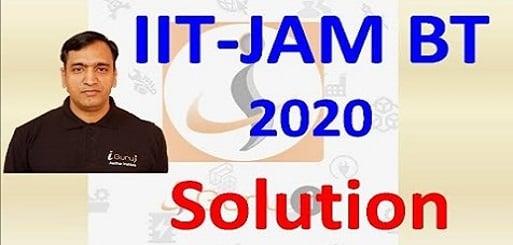 IIT JAM BT 2020 KEY