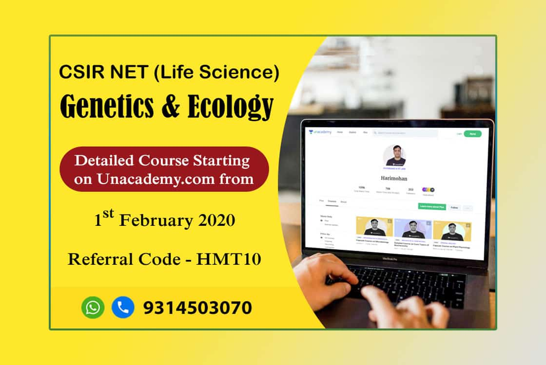 CSIR NET LIFE SCIENCE