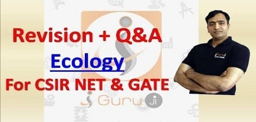 revision + Q & A ecology for CSIR NET and GATE