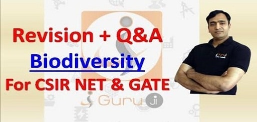 revision + Q & A BIODIVERSITY for CSIR NET and GATE