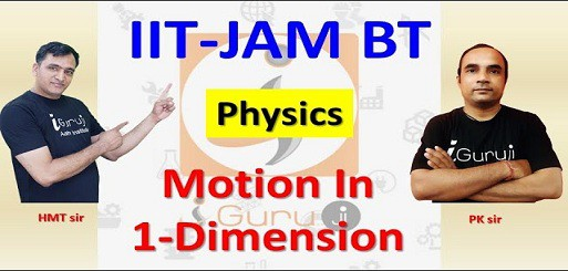 Physics: motion in One dimension for IIT-JAM BT